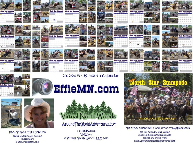 Order your 2012-2013 Rodeo Calendar featuring photographs from the 2011 North Star Stampede